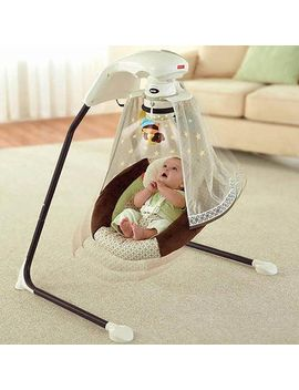 fisher-price---starlight-papasan-cradle-swing,-nite-nite-monkey by fisher-price