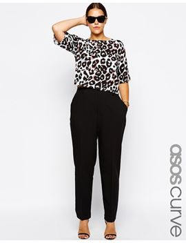 asos-curve-cigarette-pants-in-crepe by asos-curve
