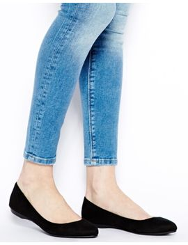 new-look-koinery-black-pointed-flat-shoes by new-look