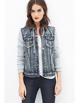 denim-hoodie-jacket by forever-21