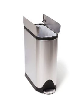 simplehuman-butterfly-step-trash-can,-stainless-steel,-45-l-_-119-gal by simplehuman