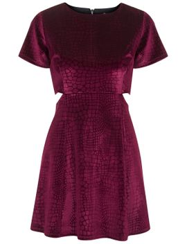 online-exclusive-cut-out-velvet-skater-dress by topshop