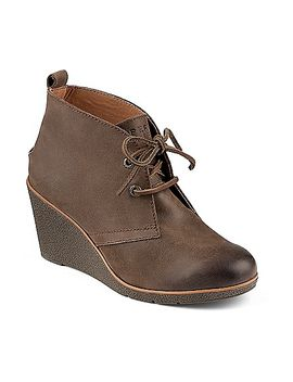 harlow-burnished-leather-wedge-bootie by sperry