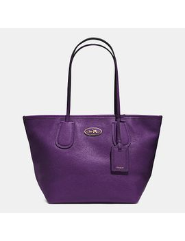 coachtaxi-zip-top-tote-in-leather by coach