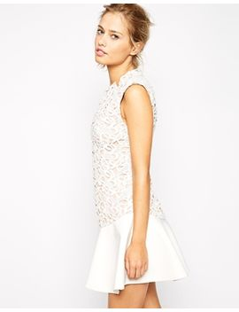 stylestalker-island-animal-lace-dress-with-flippy-hem by stylestalker