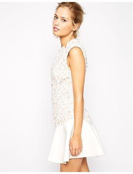 stylestalker-island-animal-lace-dress-with-flippy-hem by stylestalker