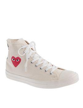 unisex-play-comme-des-garçons®-for-converse®-high-top-sneakers by unisex-play-comme-des-garçons
