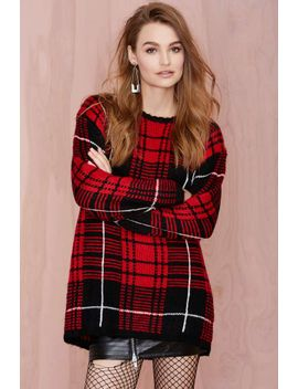 unif-jumbo-plaid-sweater by nasty-gal
