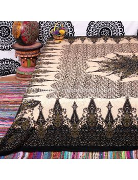 mandala-boho-tapestries,-hippie-hippie-tapestries,-wall-hangings,-indian-tapestry,-wall-art,-black-mandala,-vintage-mandala,-wall-hanging by jaipurihandicraft