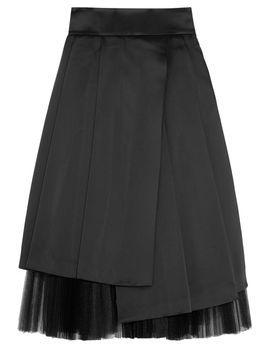 satin-and-plissé-tulle-midi-skirt by marc-by-marc-jacobs