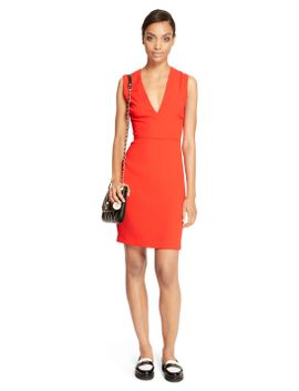 v-neck-sheath-dress by dkny