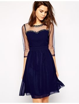 little-mistress-sheer-midi-prom-dress-with-embellished-neckline by little-mistress
