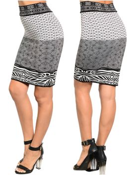 womens-ladies-fitted-business-knee-long-slimming-high-waist-bodycon-pencil-skirt by stanzino
