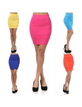 s-m-l-pencil-skirt-high-waist-bandage-career-pleated-diagonal-stretch-sexy-solid by ebay-seller