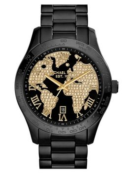 michael-kors-layton-pavé-world-dial-bracelet-watch,-44mm by michael-michael-kors