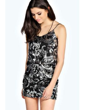 rochelle-sequin-cami-co-ord-set by boohoo