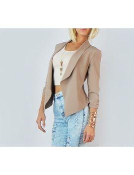 chic-waterfall-cardigan-drape-3_4-sleeve-cropped-casual-office-blazer-jacket-s by fashion-twenty