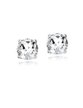 925-sterling-silver-2ct-white-topaz-stud-earrings by ebay-seller