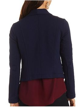 cropped-open-front-blazer by charlotte-russe
