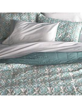 ikat-aqua-quilt-and-pillow-shams by crate&barrel