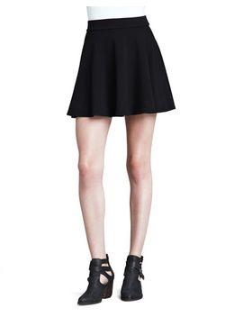 stretch-knit-flare-skirt by splendid