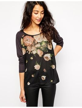 esprit-placement-flower-long-sleeve-top by esprit-
