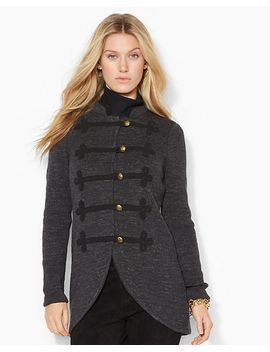 military-mockneck-cardigan by ralph-lauren