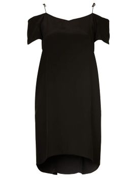 silk-off-shoulder-dress-by-boutique by topshop