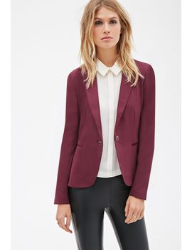 classic-single-button-blazer by forever-21