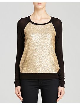 sequin-front-pullover by three-dots