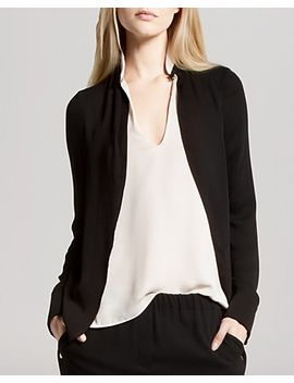 top---v-neck-faux-double-layer by halston-heritage