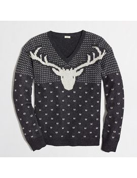 factory-intarsia-reindeer-sweater by jcrew