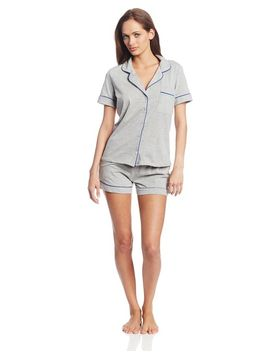 bottoms-out-womens-knit-pajama-short-set by bottoms-out