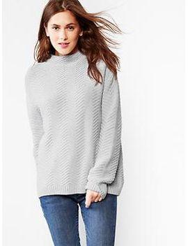 zig-zag-mockneck-sweater by gap