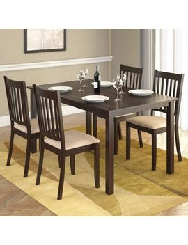 corliving-atwood-5-piece-dining-set-with-beige-microfiber-seats by corliving