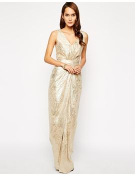 vlabel-wapping-maxi-dress-in-metallic-foil by vlabel-london