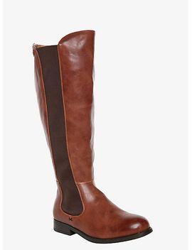 elastic-panel-boots-(wide-width) by torrid