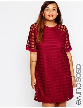 asos-curve-exclusive-shift-dress-in-cage-mesh by asos-curve