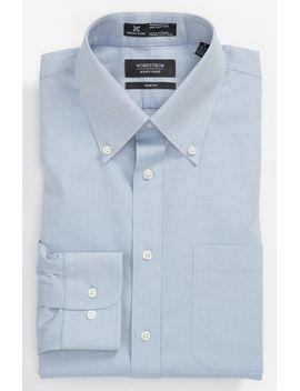 smartcare™-trim-fit-solid-dress-shirt by nordstrom-mens-shop