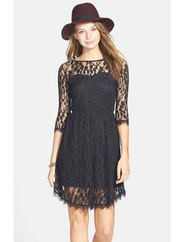 dainty-lace-illusion-skater-dress by basil-lola