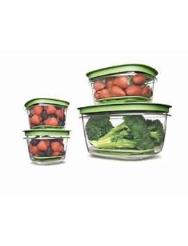 rubbermaid-7j93-produce-saver-square-food-storage-containers-set-of-8 by rubbermaid