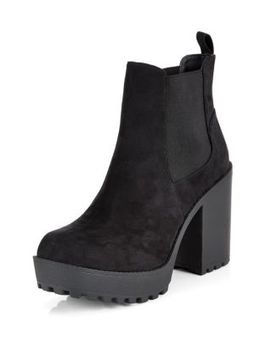 black-extreme-heel-chelsea-boots by new-look