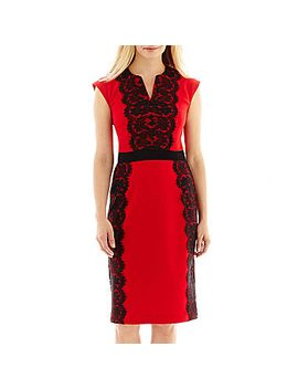 danny-&-nicole®-sleeveless-lace-panel-dress----petite by danny-&-nicole