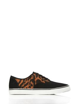 animal-print-low-top-sneakers by forever-21