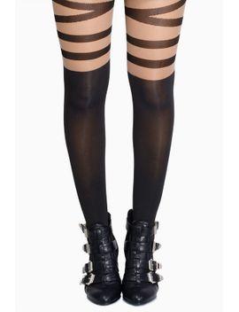 ballerina-black-striped-mesh-tights by tobi