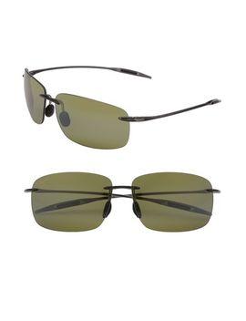 breakwall-63mm-polarizedplus2®-rimless-sunglasses by maui-jim