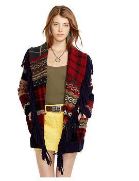 patchwork-wool-blend-cardigan by ralph-lauren