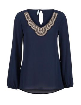 bead-embellished-chiffon-blouse by maurices