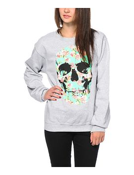 empyre-flower-skull-crew-neck-sweatshirt by empyre