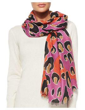 cashmere-kenley-leopard-dance-scarf,-poppy by diane-von-furstenberg